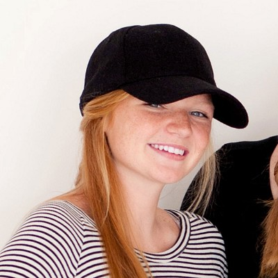 Monogrammed Black Wool Cap Hat
