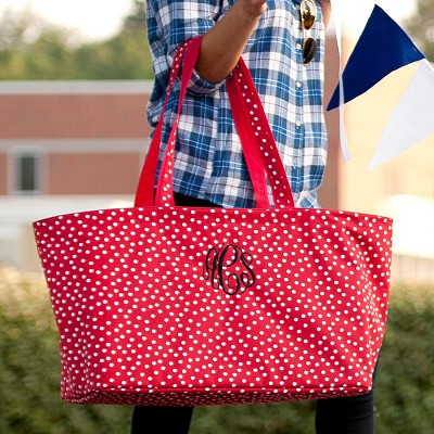 Red Scattered Polka Dot Ultimate Tote