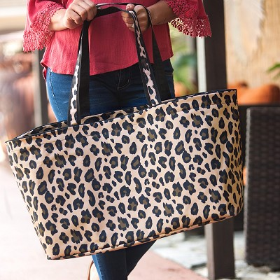 Monogrammed Wild Side Leopard Ultimate Tote