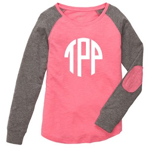 Coral Preppy Patch Tee