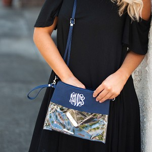 Navy Gameday Clear Clutch
