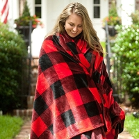 Buffalo Check Plaid Plush Oversized Throw Blanket