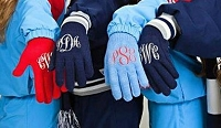 Monogrammed Knit Tech Gloves