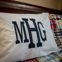 Monogrammed Standard Pillowcase